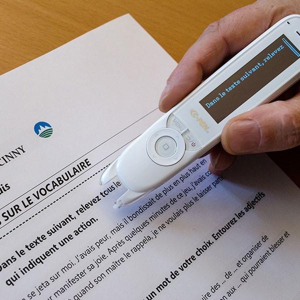 Stylo numérique Reader Pen C-Pen pour aide à la prise de note des dyslexiques