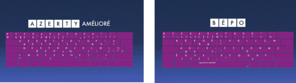 Deux modèles de claviers, offrant chacun les mêmes possibilités d'écriture, mais orientés vers des publics et des usages différents