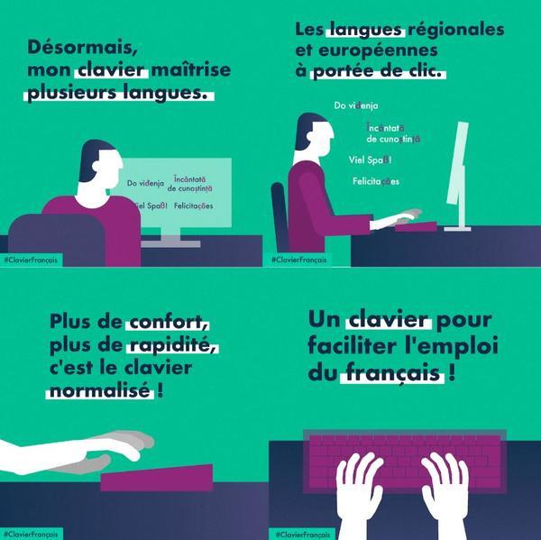 Gagner en ergonomie et permettre d'écrire plus facilement le français, les langues régionales et européennes