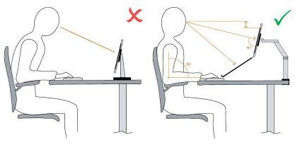 Bonne position assise bureau