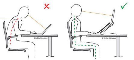 Travailler sainement sur un ordinateur portable