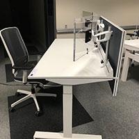 Cloisonnette pour bureau ergonomique Ergoblic