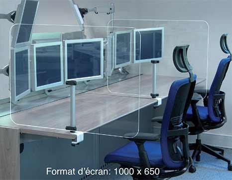 Séparation de bureau sanitaire en plexiglas transparent