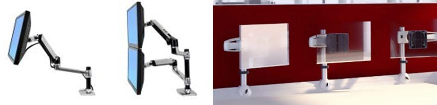 Supports d'écran et bras articulés pour TMS et handicap