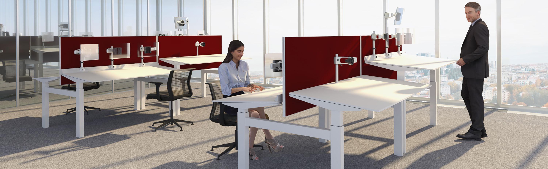 Bureau ergonomique assis-debout incliné Ergoblic