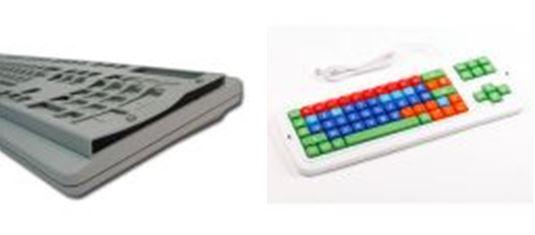 Claviers ergonomiques avec guide-doigts