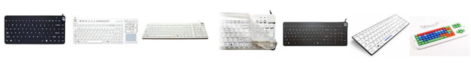 Claviers ergonomiques médicaux et lavables