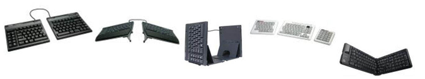 Claviers ergonomiques ajustables