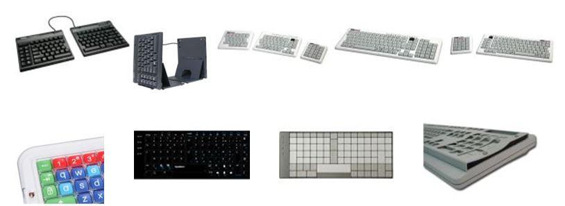 Claviers ergonomiques pour handicap et TMS