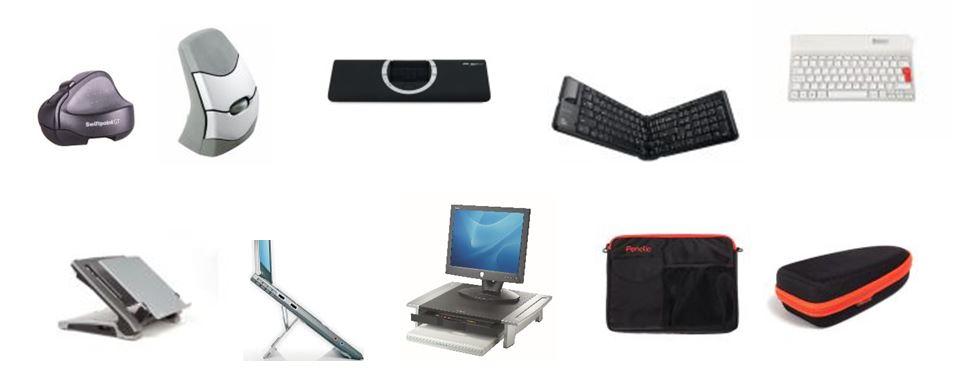 Supports, Souris et claviers pour ordinateur portable, Sacoches et étuis