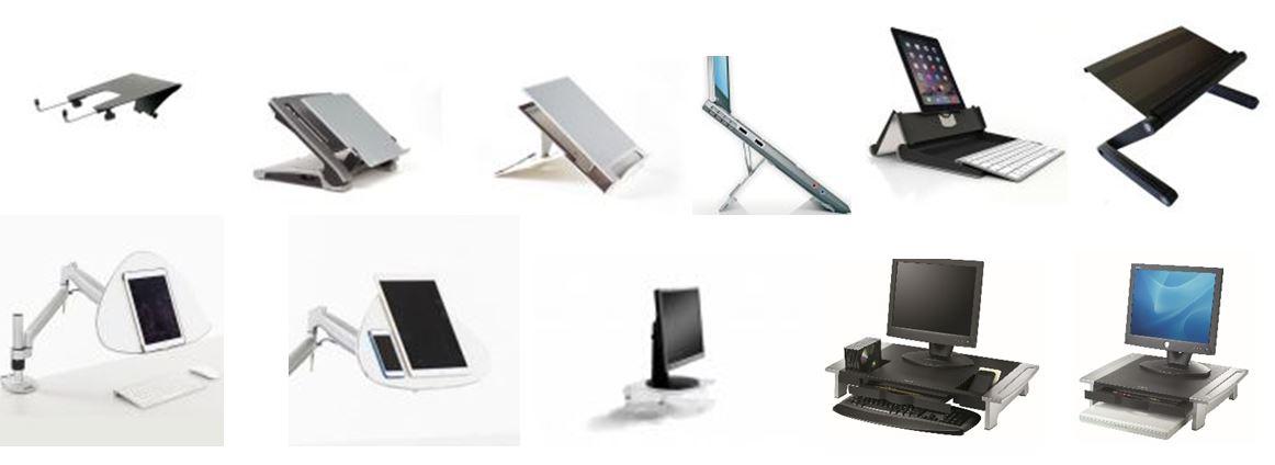 Support ergonomiques pour écrans d'ordinateur