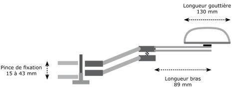 Dimensions Ergorest soutien standard