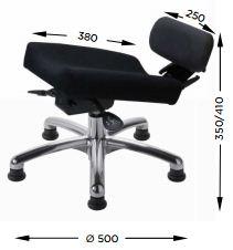 Schéma des dimensions du repose-jambe MOSS