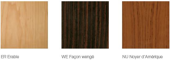 Placages bois disponibles pour le bureau Flip Top Twin
