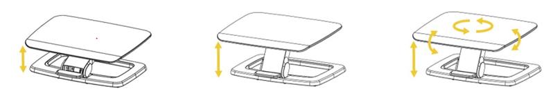 Schéma du repose-pieds design et robuste bois et aluminium HANA