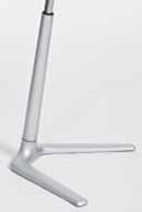 Piétement aluminium brossé gris siège FIN