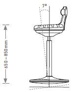 Dimensions du siège Labster assis-debout