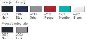 Matières et coloris pour le labster 2 et 3