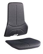Revêtement Duotec pour siège ergonomique Néon production