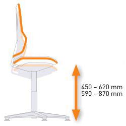 Réglage en hauteur du siège ergonomique NEON