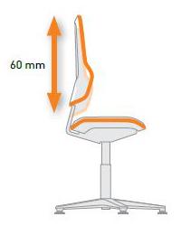 Réglage en hauteur du dossier siège ergonomique NEON