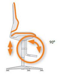 Repose-pieds et marche-pieds siège ergonomique NEON